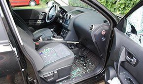 Attempted theft Nissan Qashqai